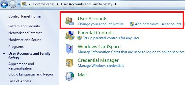 how to change your password on windows 7