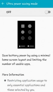 Turn on Ultra power saving mode on android