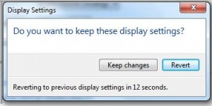 change dispaly settings in Windows 7
