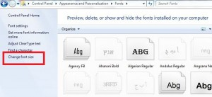 change font size in windows 7