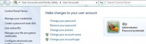 Change account name on Windows 7 desktop