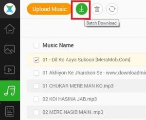 Download files using Xender app