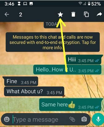 How To Star A Message in WhatsApp Android