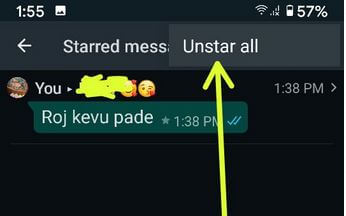 How To Unstar All WhatsApp Messages on Android