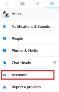 How to add account on facebook messenger app android