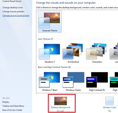 How To Change Desktop Background Windows 7PC