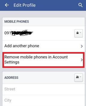 Delete phone number from facebook archives bestusefultips delete or remove phone number from facebook account on your mobile device such as android iphone blackberry etc you can easily delete existing facebook ccuart Image collections