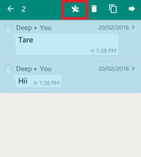 How to use WhatsApp starred messages android