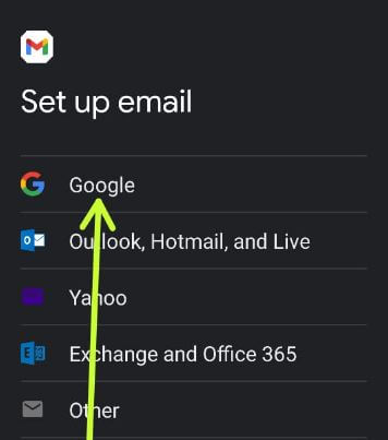 Set up email account on Stock Android