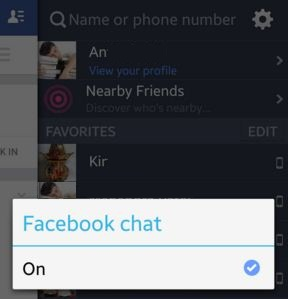 Turn off facebook chat on android mobile