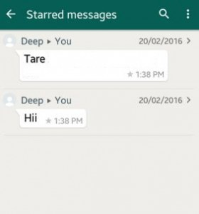 Use WhatsApp starred messages android