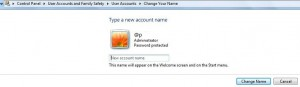 change account name windows 7