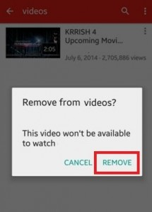 How to delete YouTube videos android phone & tablet