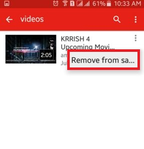 How to delete YouTube videos android phone