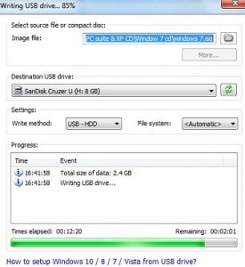How to make pendrive bootable Windows 7