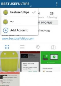 How to switch instagram accounts android phone