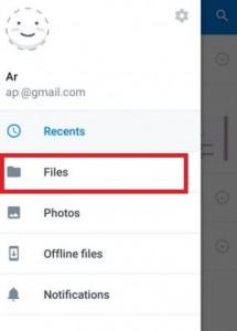 Tap on files on Dropbox app