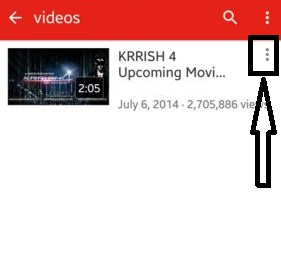 Tap on three horizontal dots from YouTube settings