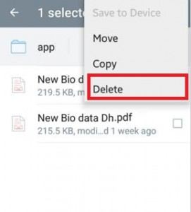 delete multiple files from dropbox