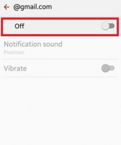 turn off email notifications gmail android lollipop
