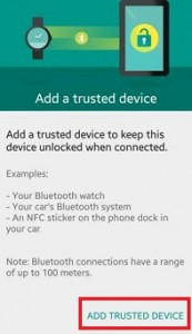 Click on add trusted device