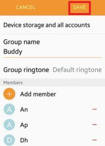 How to create contact group android lollipop