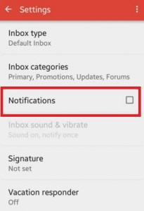 How to turn off Gmail notification sound android lollipop