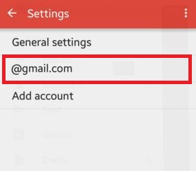 Tap on your gmail account id