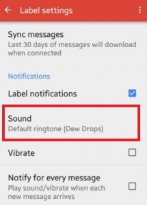 change gmail app notifications sound android