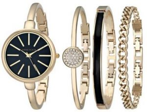 Anne klein women's bangle watch and bracelet set gift