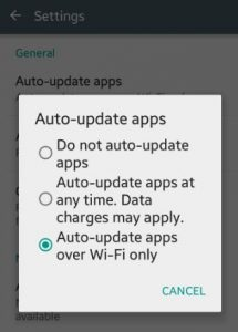 Auto-update apps over wi-fi only on android lollipop