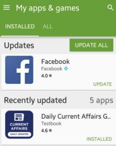 How to update apps android phone