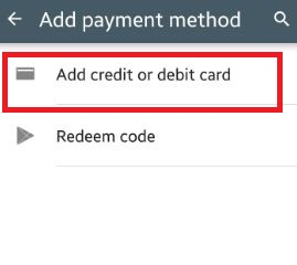 add payment method android