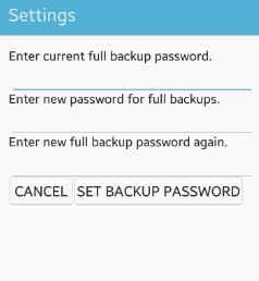 set desktop backup password android