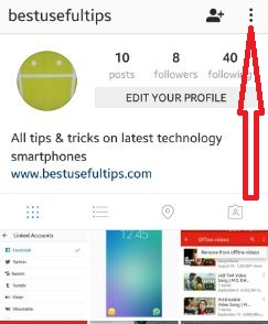 instagram-settings-on-android