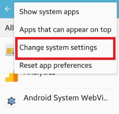 change system settings android