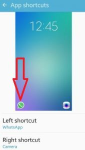 add WhatsApp icon to lock screen