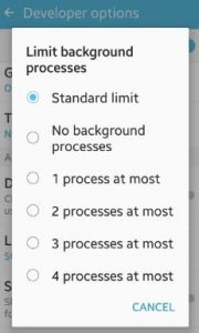 set background process limit android