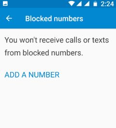 Add number to block calls or texts
