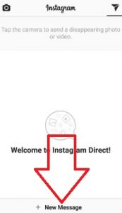 Click on New Message in Instagram