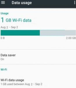 Data Usage on Android Nougat