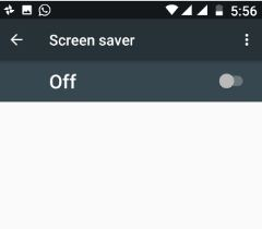 Disable screen saver on android Nougat