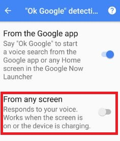 Enable Google voice search from any screen in android
