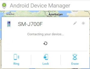 Find lost android phone using computer