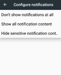 Hide sensitive notifications content lock screen