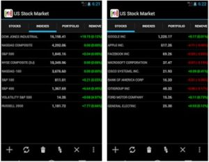 US stock market app for android phone