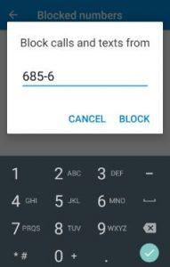block phone number on Nougat