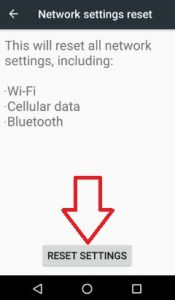 reset settings android Nougat 7.0