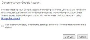 Chrome bookmarks not syncing
