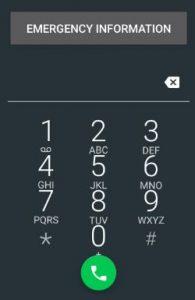 Emergency information of user